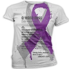Domestic Violence T-Shirt Printed Graphic Awareness by InkandRags