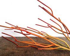 Faux fire stick pencil cactus, artificial plant, faux succulent, sticks on fire, Euphorbia tirucalli, succulent, red succulent, floralsupply