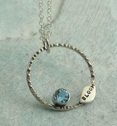 Bloom Necklace  sterling silver and blue topaz by KathrynRiechert, $48.00