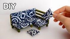 Kendin Yap | Minyatür Köşe Koltuk Yapımı | Dollhouse Miniatures