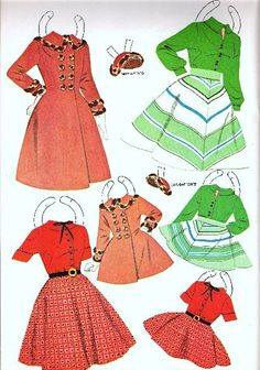 MOTHER AND DAUGTER - edprint2000paperdolls - Picasa Webalbum* 1500 free paper dolls international artist Arielle Gabriel's The Internatonal Paper Doll Society for paper doll pals at Pinterest *