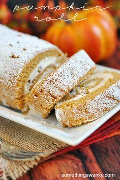 Pumpkin Roll   www.somethingswanky.com