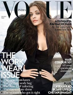 Aishwarya Rai Bachchan's new look on Vogue magazine cover. Aishwarya Rai Bachchan is most celebrated diva of B-town and she graces the Vogue magazine's cover for Vogue Magazine Covers, Fashion Magazine Cover, Fashion Cover, Vogue Covers, Mangalore, Actress Aishwarya Rai, Aishwarya Rai Bachchan, Bollywood Actress, Bollywood Celebrities