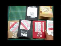 Quick cards using Washi Tape - Part 2 by Lulupu.com