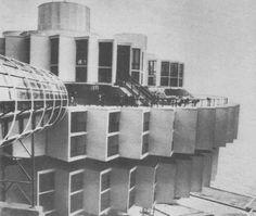 """Sanatorium """"Druzhba"""" (Friendship), Yalta, Ukraine, 1985 Architects: I. Vasilevsky, Y. Stefanchuk, V. Divnov, L. Kesler Engineers: N. Kancheli, B. Gurievich, E. Vladimirov, E. Ruzyakov, E. Kim"""