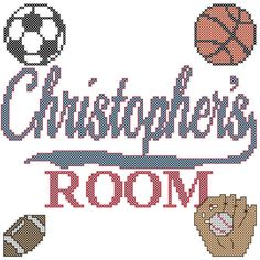 Counted Cross Stitch Pattern Sports Boys by oneofakindbabydesign, $12.95