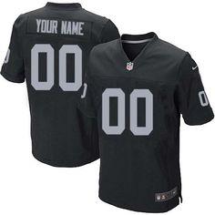 Nike Oakland Raiders Customized Black Stitched Elite Men s NFL Jersey Nfl  Season 4e9d232f5