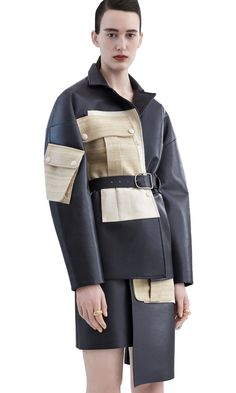 Acne Studios - Lerena charcoal grey Shop Ready to Wear Accessories Shoes and Denim for Men and Women Army Look, Military Looks, Leather Blazer, Grey Leather, Look 2018, Fashion Details, Fashion Design, Inspiration Mode, Margiela