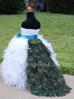 Peacock Feather Bustle Tail -  Peacock Train - Child Size on Etsy, $150.00