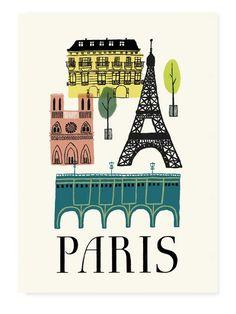 beautiful poster design by Laura Lünenbürger! Paris mon amour!