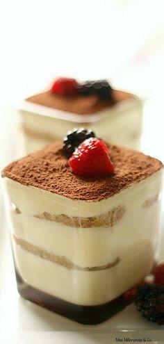 tiramisu, my favourite desserts/cake. Bon Dessert, Eat Dessert First, Sweet Recipes, Cake Recipes, Dessert Recipes, Parfait Recipes, Food Cakes, Bolo Tiramisu, Tiramisu Dessert