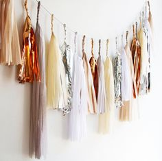 Copper Tissue Tassel Garland - Since you guys love our tassel garlands so much we decided to bring this yummy rose gold neutral garland into the shop!