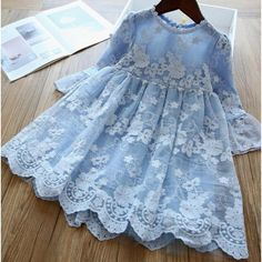Girls Lace Dress, Wedding Dresses For Girls, Girls Dresses, Flower Girl Dresses, Dress Wedding, Flower Girls, Girls Easter Dresses, Dress Lace, Winter Dresses For Girls