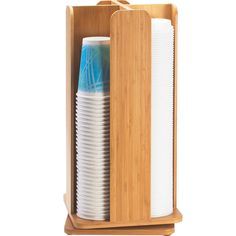 8W x 8D x 18.25H Bamboo Revolving Cup and Lid Organizer Tags: Bamboo Collection; Cup Organizers; Bamboo Collection; Bamboo Cup Organizers;Bamboo Brown Cup Organizers;Bamboo Round Cup Organizers; https://www.ktsupply.com/products/32801336188/8W-x-8D-x-1825H-Bamboo-Revolving-Cup-and-Lid-Organizer.html