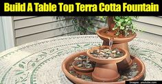 If you want to add the element and sound of water to your garden without making a big monetary investment then try this new technique to make your own terra cotta fountain! You can easily make it just by using some small flower pots and it can fit nicely in even small spaces. Your... #spr #sum