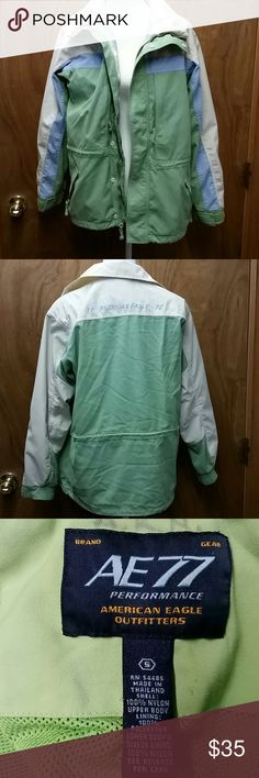 American Eagle Outfitters  coat sz Small Great condition  Green, Blue and Cream colors Size Small American Eagle Outfitters Jackets & Coats
