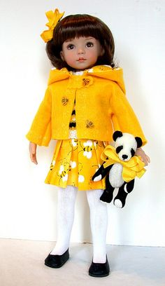 Buzzin Bees doll skirt and jacket - cute