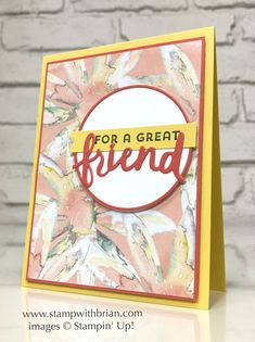 Lovely Inside & Out, Lovely Words Thinlits Dies, Delightful Daisy Designer Series Paper, Stampin' Up!, Brian King, FMS285