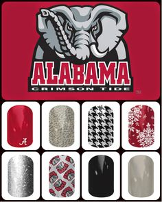 Alabama Crimson Tide Nail wraps
