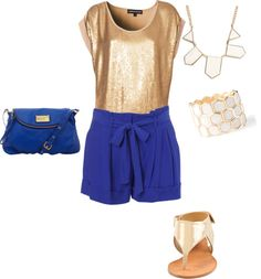 """""""Gold and Royal blue"""" by kate-sitz on Polyvore"""