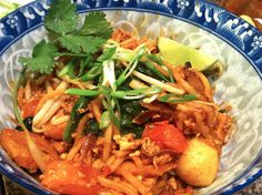Mamak Mee, noodles, Malaysian, spicy, dinner, cilantro, lime