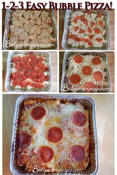 """Easy Bubble Pizza - Food Recipes  I should have a board titled """"School Night dinners"""" haha!"""