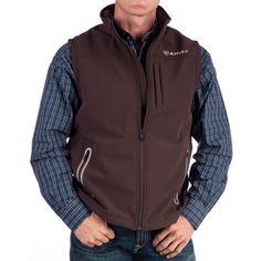 NRS. Men's Ariat Brown Bonded Vest.