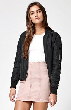 Kendall   Kylie Paneled Back Zip Denim Skirt at PacSun.com 0a12f2cc51