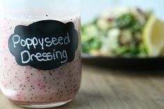 -plus 5 recipes to use it on! Poppyseed dressing in the hizouze! That& right, I can talk extensively about somethin. Homemade Dressing, Dressing Recipe, Apple Walnut Salad, Blue Cheese Salad, Baking Ingredients, Food Processor Recipes, Sauces, Oregon, Sugar Substitute