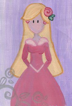 Aurora Original Illustration by maddierosedoodles on Etsy, $5.00