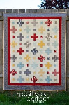 Positively Perfect by April Rosenthal - I have all of the fabric to make this quilt, just need to make it! Have downloaded the pattern!