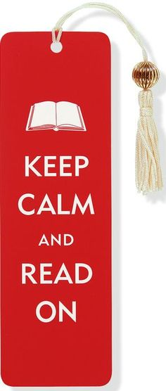 Keep+Calm+and+Read+On+Beaded+Paper+Bookmark