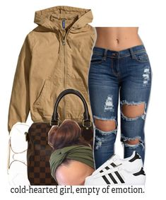 """""""7/14/16"""" by trinityannetrinity ❤ liked on Polyvore featuring H&M, CÉLINE, Louis Vuitton and adidas Originals"""