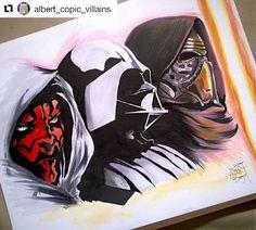 Dark Side . . #kyloren #darthmaul  #darthvader #starwars #starwarsart #Draw #Drawing #Art #Fanart #Artist #Illustration #Design #sketch #doodle #tattoo #Arthelp #Anime #Manga #Otaku #Hipster #Gamer #Scene #Nerdy #Alternative #Nerd #Comic #Kawaii #Geek . . Geek drawings gallery.  Use #ArtForGeeks for a chance to be featured  Artist credit