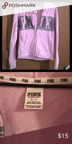 PINK  jacket Gently worn must go make an offer light lavender pink color PINK Victoria's Secret Jackets & Coats