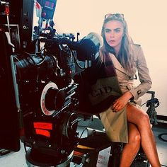 Behind the scenes: Cara Delevingne photo shoot for Burberry