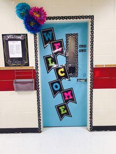 Flower welcome classroom door Classroom Door, Board Ideas, Bulletin Boards, Elementary Schools, Science, Decorations, Doors, Education, Flower