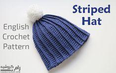 Crochet Striped Hat - Raam Crochet