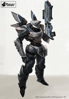 combat robot by AlexPascenko on DeviantArt