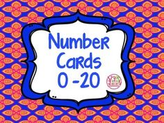 I made these 10 themed number card sets to help my Ks with putting numbers in order.  Each set is themed so it is easy to keep them separate.  They can also be used for lots of other activities or games:* addition* subtraction* number order* counting on or back* greater than or less then* writing the numbers* matching to sets