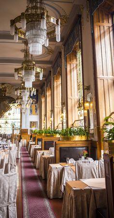Sashya K. — ndunning: Inside a ballin' restaurant in Prague....