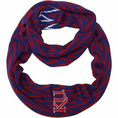 Kansas Jayhawks Ladies Infinity Chevron Scarf