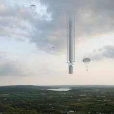 In a bid to get around terrestrial height restrictions, Clouds Architecture Office has proposed suspending the world& tallest skyscraper from an asteroid Architecture Office, Futuristic Architecture, Concept Architecture, Architecture Design, Skyscraper New York, Sci Fi Environment, Architecture Background, Futuristic City, Architectural Elements
