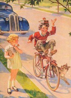 "Vintage Raymond James Stuart ""Riding for A Fall"" Calendar Art Print Images Vintage, Photo Vintage, Vintage Pictures, Vintage Cards, Old Pictures, Vintage Prints, Vintage Posters, James Stuart, Raymond James"