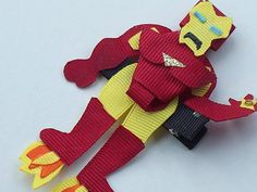 Iron Man inspired Hair Clip by christinaland128 on Etsy, $10.00