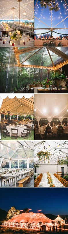 If you are hoping to have an outdoor reception that is also protected in case of bad weather, a wedding tent can make your vision come to life and guarantee a flawless occasion. Tents provide you with countless decorating opportunities and styles, and al Tent Wedding, Our Wedding, Dream Wedding, Wedding Table, Wedding Tent Lighting, Event Lighting, Gothic Wedding, Glamorous Wedding, Wedding Receptions