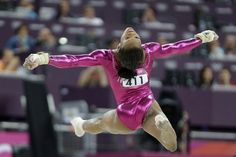 gymnast Gabrielle Douglas performs her final and deciding routine on the floor during the artistic gymnastics women's individual all-around competition at the 2012 Summer Olympics, Thursday, Aug. in London. Artistic Gymnastics, Olympic Gymnastics, Olympic Games, 2012 Summer Olympics, Olympics News, Gabby Douglas, Insight, Competition, The Neighbourhood