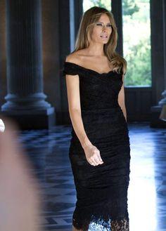 La First Lady arrive au Château de Laeken, près de BruxellesCrédit : SIPA