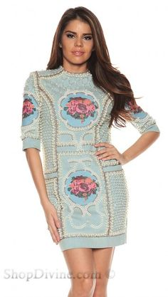 Musani Gold Blue Kim Dress - Musani Gold - Designers at Shop Divine
