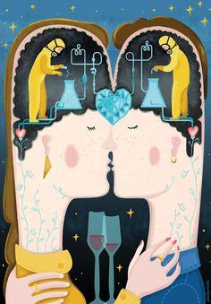 Ilustración de Paola Vecchi para el artículo de Josep Biayna para Principia